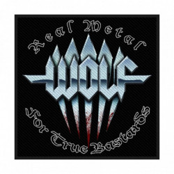 WOLF REAL METAL PTCH